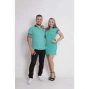 NAMORADOS > Kit 02 Peças Camisa + Vestido Polo Verde Jade [Coleção Namorados]