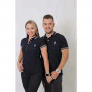 NAMORADOS > Kit 02 Peças Camisas Polo Masculina + Feminina Azul Marinho Céu [Coleção Namorados]