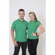NAMORADOS > Kit 02 Peças Camisas Polo Masculina + Feminina Verde Esperança [Coleção Namorados]