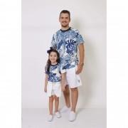 PAI E FILHA > 02 T-Shirts - Caribe  [Coleção Tal Pai Tal Filha]