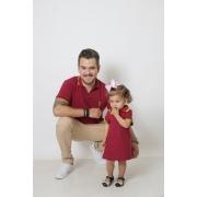 PAI E FILHA > Kit 02 Peças Camisa e Vestido Polo Bordo [Coleção Tal Pai Tal Filha]