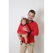 PAI E FILHA > Kit Camisa + Vestido Polo Infantil Vermelho ML [Coleção Tal Pai Tal Filho]