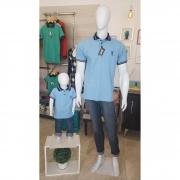 PAI E FILHO > Kit 02 Camisas ou Body Polo Azul Nobreza [Coleção Tal Pai Tal Filho]