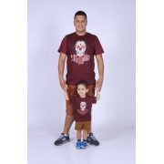 PAI E FILHO > Kit 02 Camisetas Bordo Caveira Mexicana [Coleção Tal Pai Tal Filho]