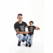 PAI E FILHO > Kit 02 Camisetas Long Pretas Gerações [Coleção Tal Pai Tal Filho]