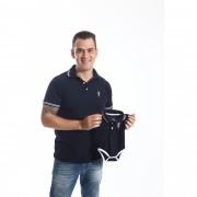 PAI E FILHOS > Kit 02 Peças Camisa + Body Polo - Azul Marinho Céu  [Coleção Tal Pai Tal Filho]