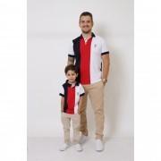 PAI E FILHO > Kit 02 Peças - Camisas ou Body Polo - Listrados King [Coleção Tal Pai Tal Filho]