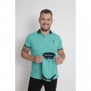 PAI E FILHOS > Kit 02 Peças Camisa + Body Polo Unissex - Verde Jade  [Coleção Tal Pai Tal Filho]