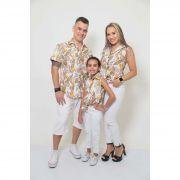 PAIS E FILHAS > Kit 3 peças Camisas Social Amazonas [Coleção Família]