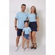 PAIS E FILHAS > Kit 3 Peças T-Shirt - Azul Bebê [Coleção Família]