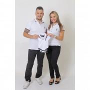 PAIS E FILHOS > Kit 3 peças Camisas + Body Unissex Polo Branca [Coleção Família]