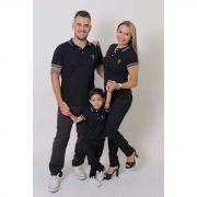 PAIS E FILHOS > Kit 3 peças Camisas ou Body Polo Azul Marinho Céu [Coleção Família]