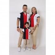 PAIS E FILHOS > Kit 3 peças Camisas ou Body Polo - Listrados King [Coleção Família]