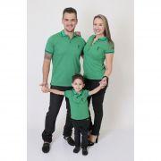PAIS E FILHOS > Kit 3 peças Camisas ou Body Polo Verde Esperança [Coleção Família]