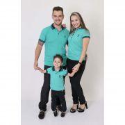PAIS E FILHOS > Kit 3 peças Camisas ou Body Polo Verde Jade [Coleção Família]