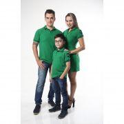 PAIS E FILHOS > Kit 3 peças Camisas ou Body Polo e Vestido Verde Esperança [Coleção Família]