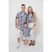 PAIS E FILHOS > Kit 3 peças Camisas Social Azul Floresta [Coleção Família]