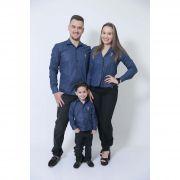 PAIS E FILHOS > Kit 3 peças Camisas Social Azul Marinho Steve Seagal [Coleção Família]