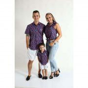 PAIS E FILHOS > Kit 3 peças Camisas Social Melancia [Coleção Família]