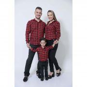 PAIS E FILHOS > Kit 3 peças Camisas Social Xadrez Lenhador [Coleção Família]