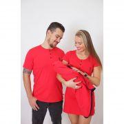 PAIS E FILHOS > Kit Saída de Maternidade 5 Peças - Vermelho [Coleção Família]
