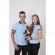 PAIS E PET > Kit 3 peças Camisas Polo + Bandana - Azul Nobreza [Coleção Família]