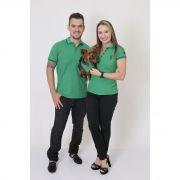 PAIS E PET > Kit 3 peças Camisas Polo + Bandana - Verde Esperança [Coleção Família]