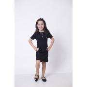 Vestido Henley Infantil Preto