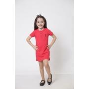 Vestido Henley Infantil Vermelho