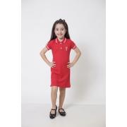 Vestido Polo Infantil Vermelho Paixão