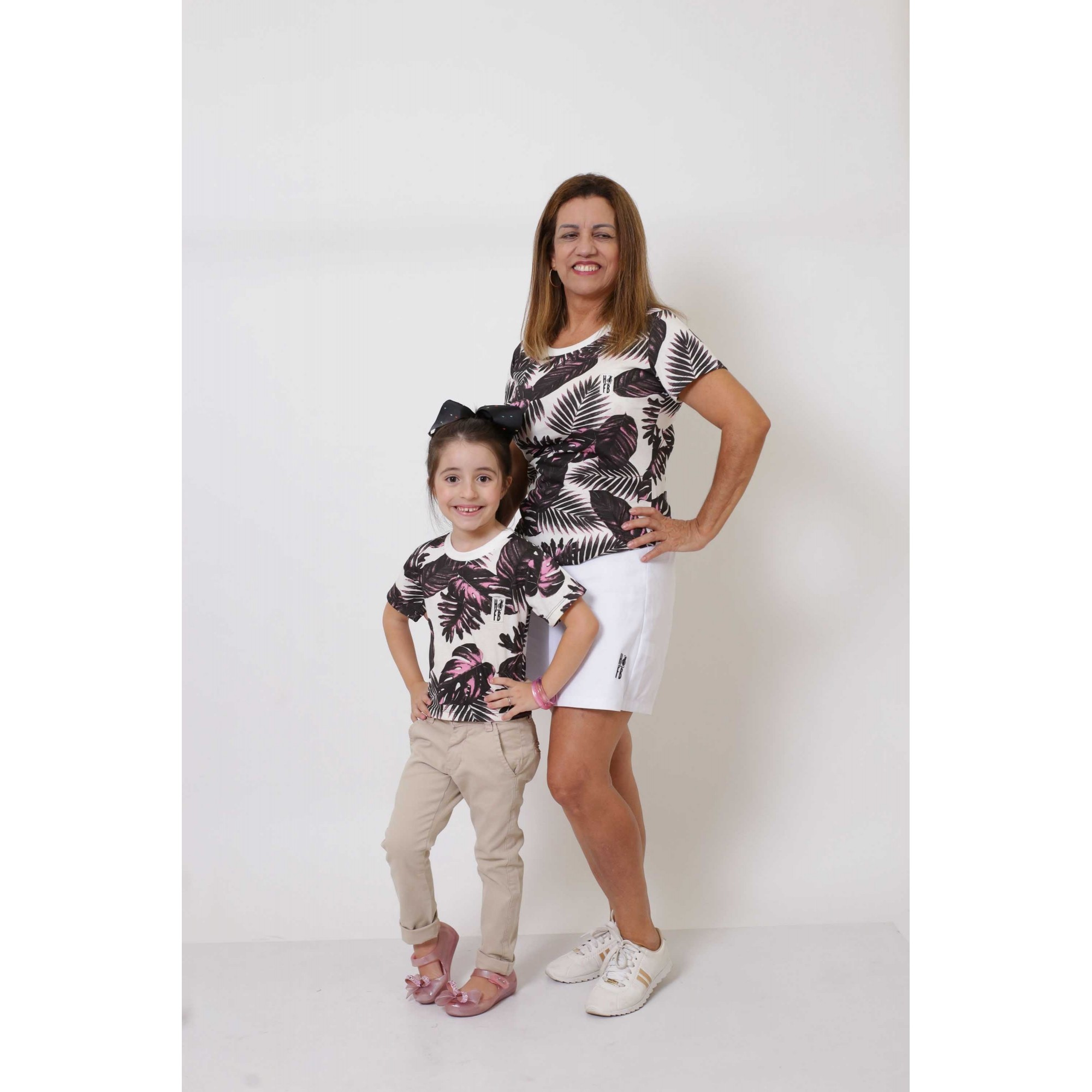 AVÓ E NETA > Kit 02 Peças T-Shirts - Cancún [Coleção Tal Avó Tal Neta]  - Heitor Fashion Brazil