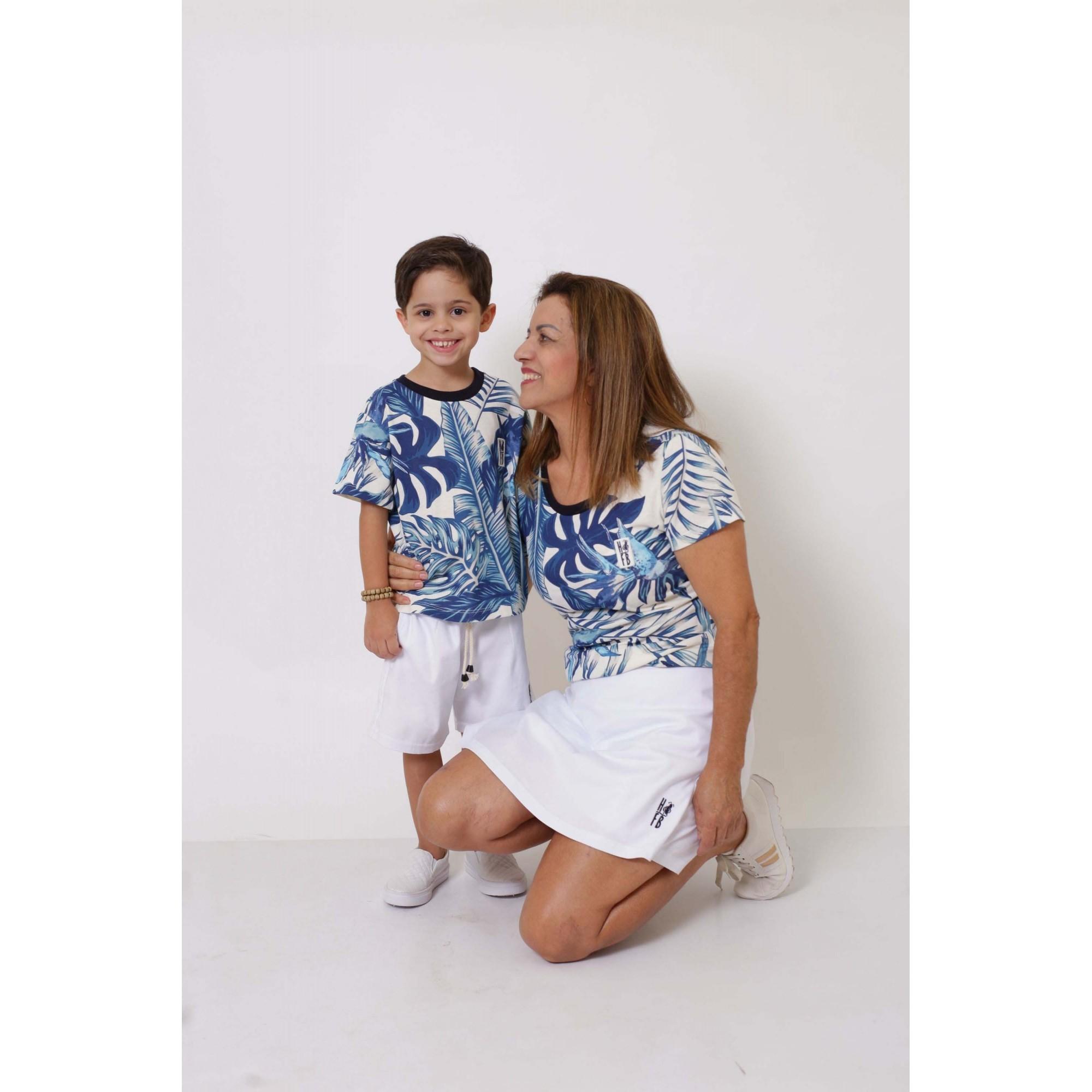 AVÓ E NETO > Kit 02 Peças T-Shirts - Caribe [Coleção Tal Avó Tal Neto]