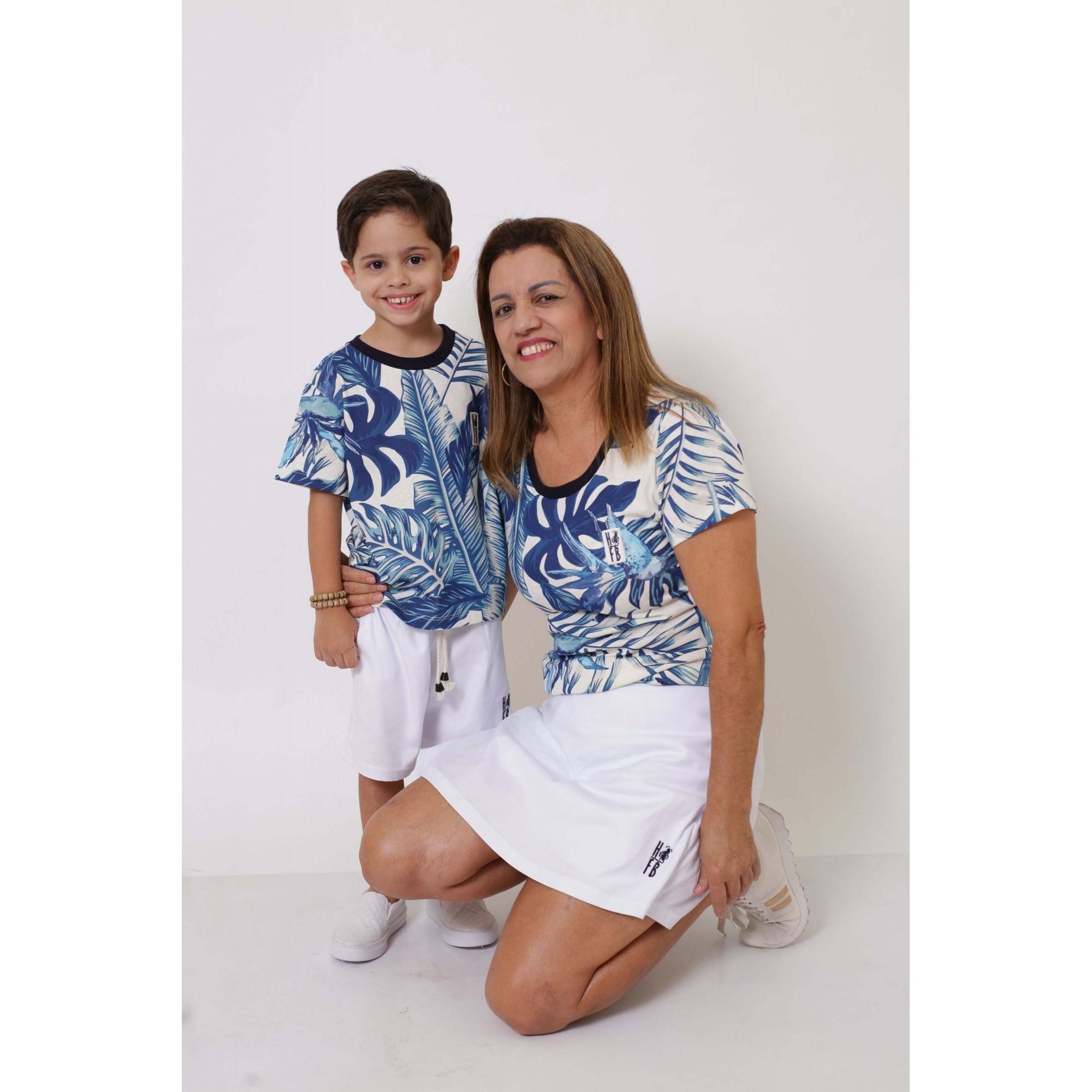 AVÓ E NETO > Kit 02 Peças T-Shirts - Caribe [Coleção Tal Avó Tal Neto]  - Heitor Fashion Brazil