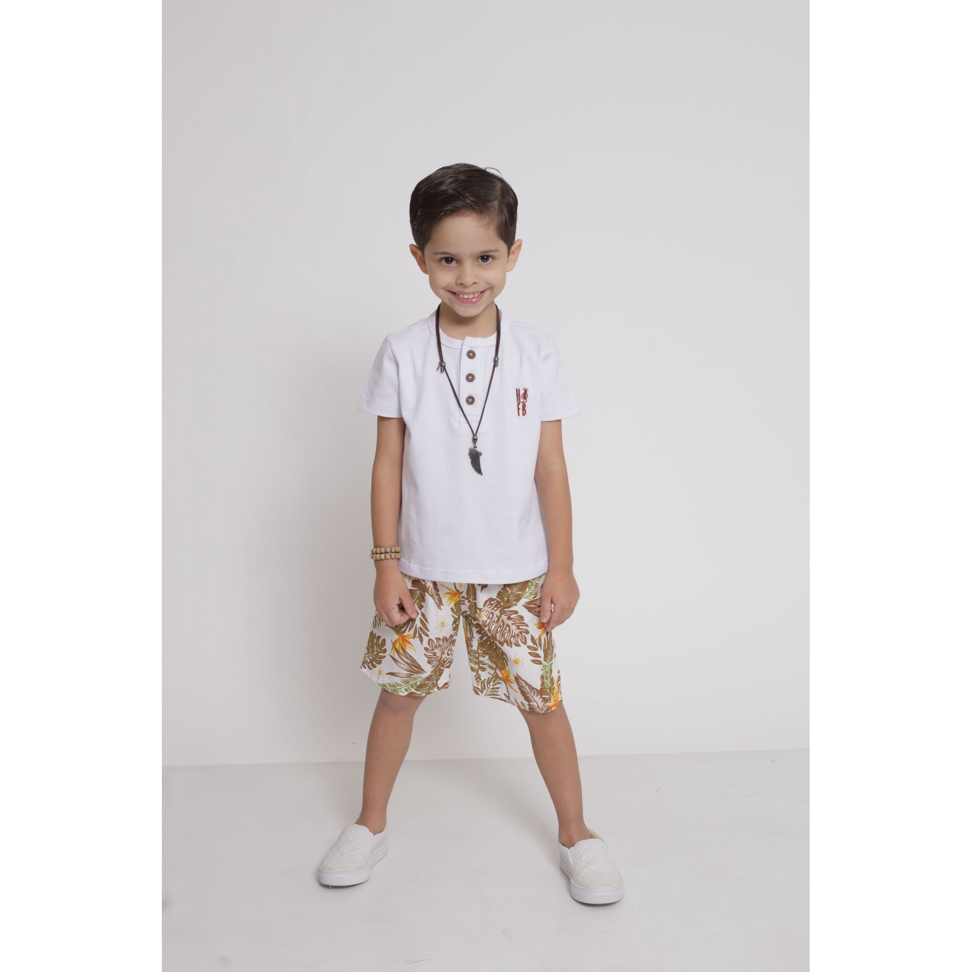 Bermuda Infantil Amazonas  - Heitor Fashion Brazil