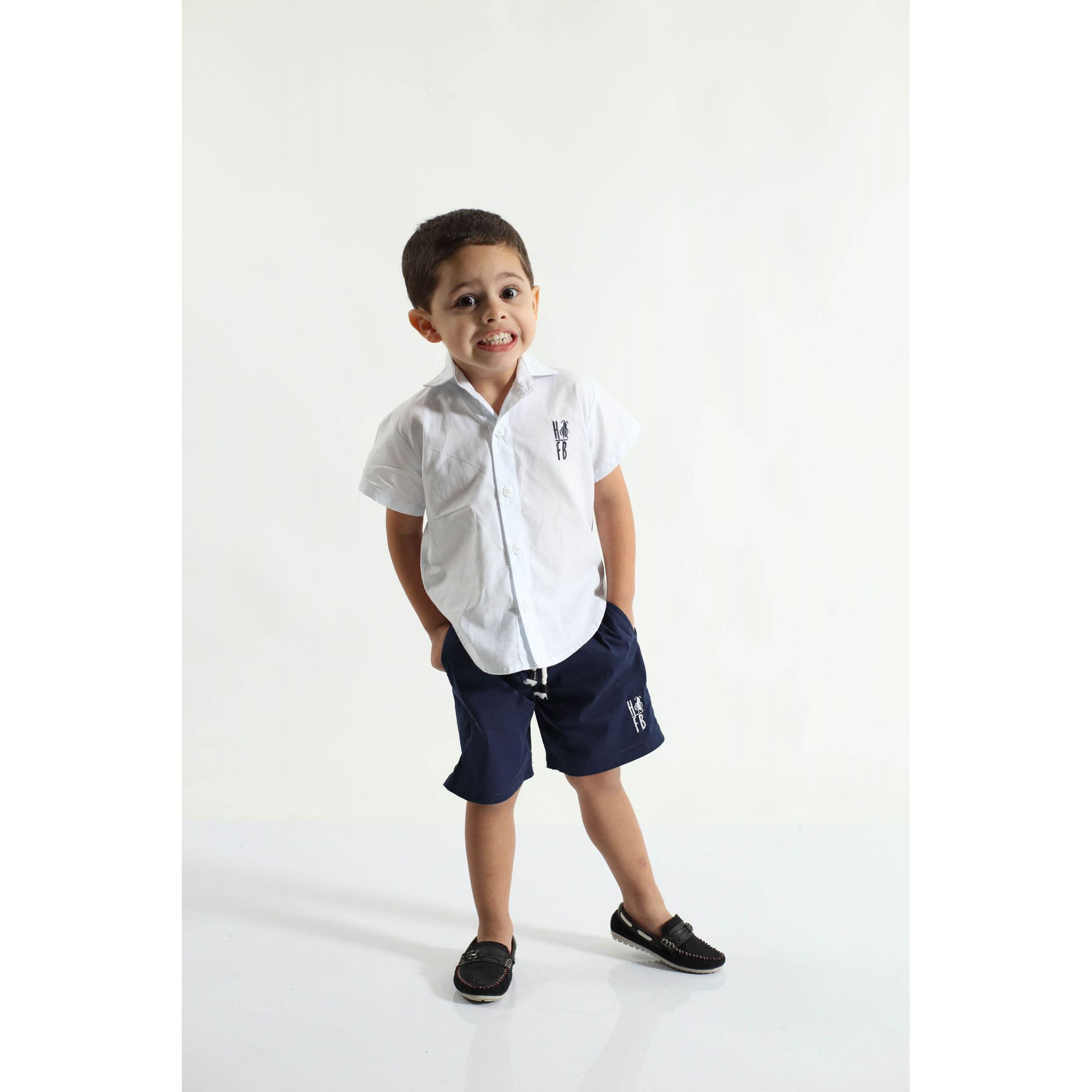 Bermuda Infantil Azul Marinho