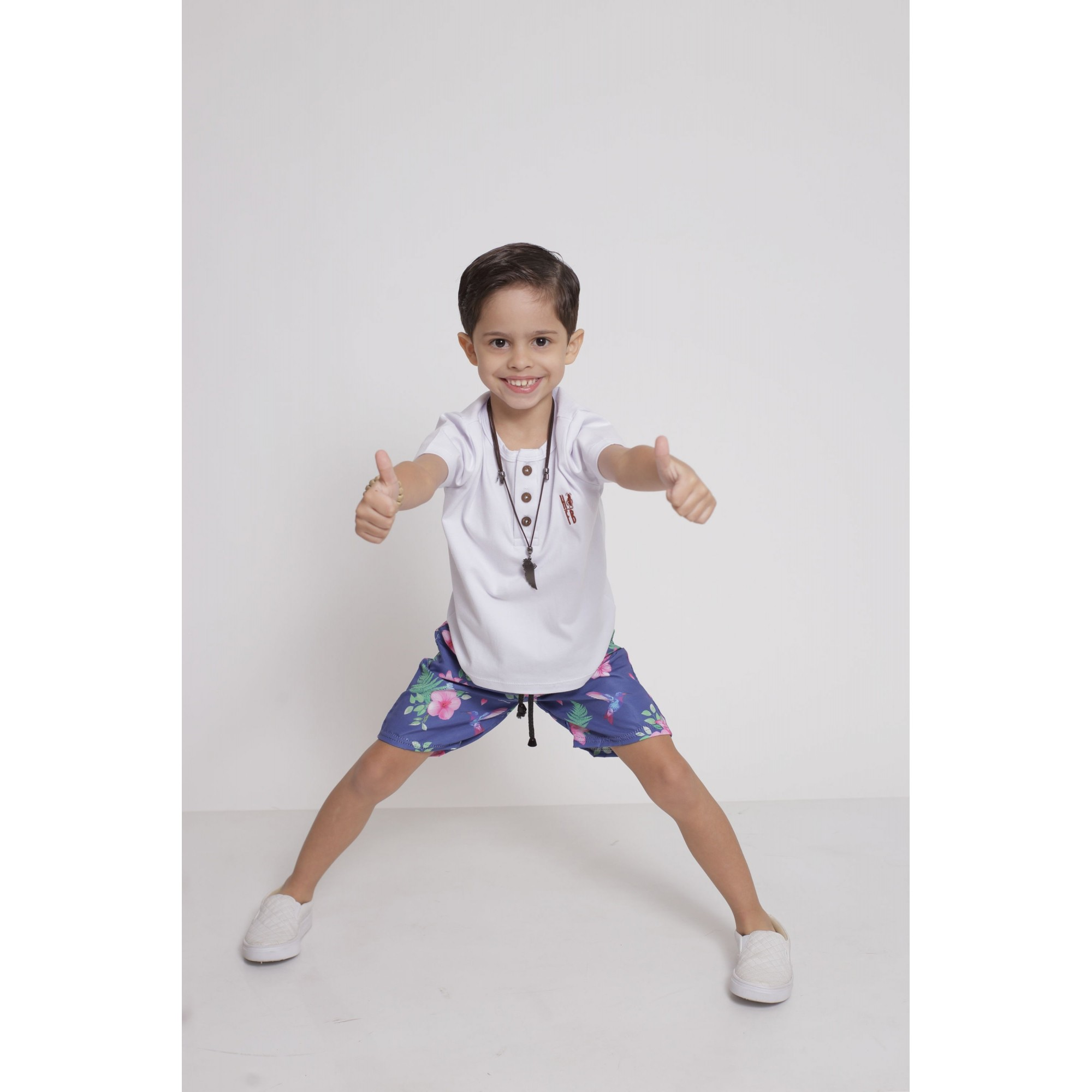 Bermuda Infantil Beija Flor - Tactel  - Heitor Fashion Brazil