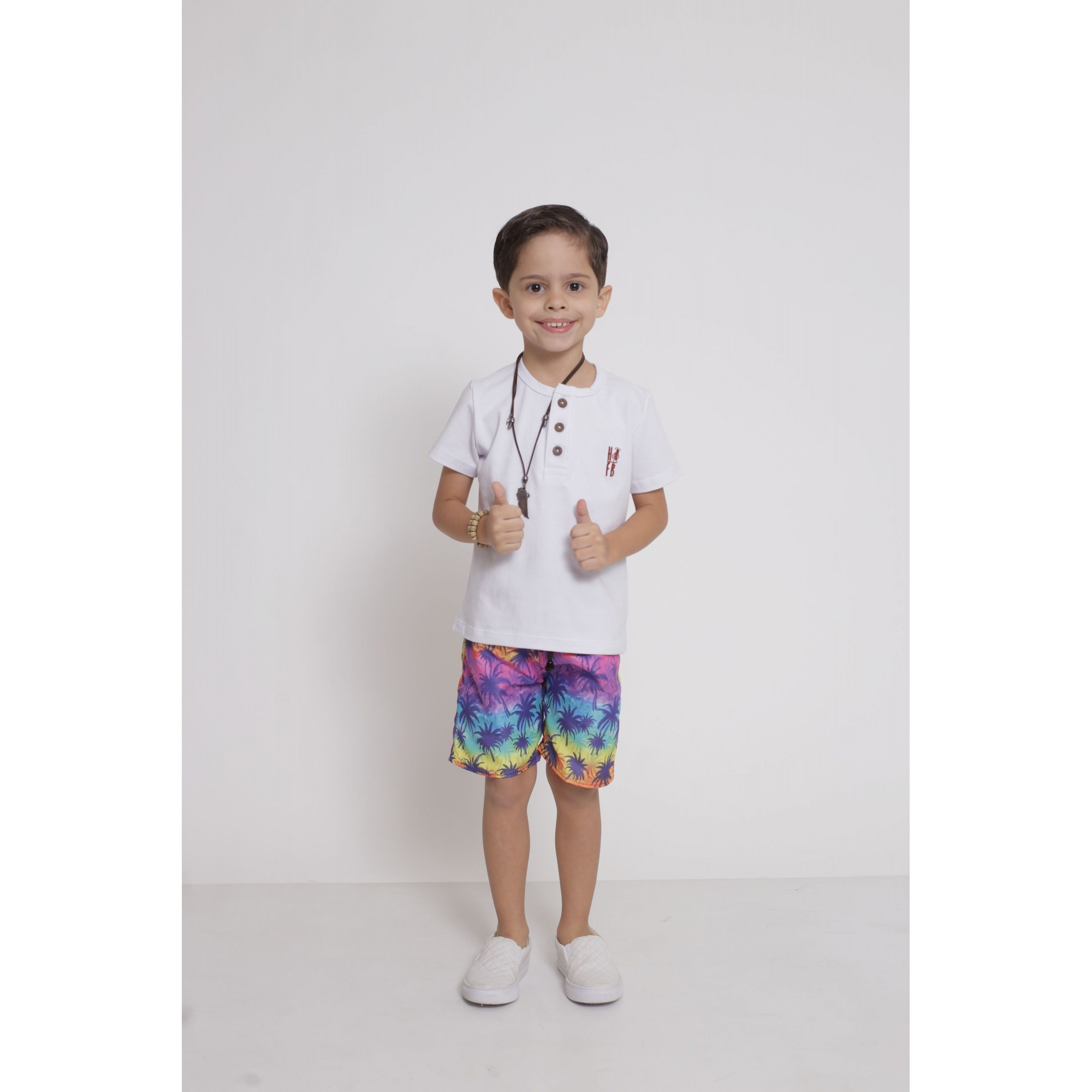 Bermuda Infantil Coqueiro  - Heitor Fashion Brazil