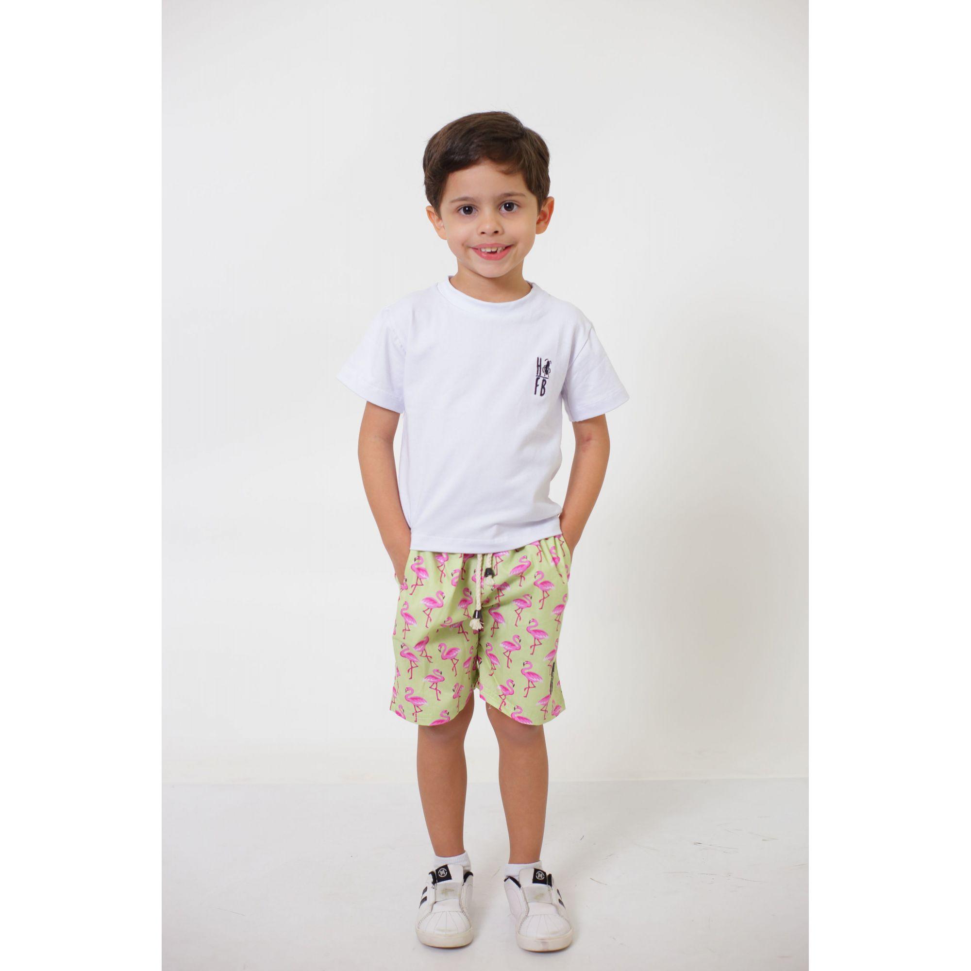 Bermuda Infantil Flamingos  - Heitor Fashion Brazil