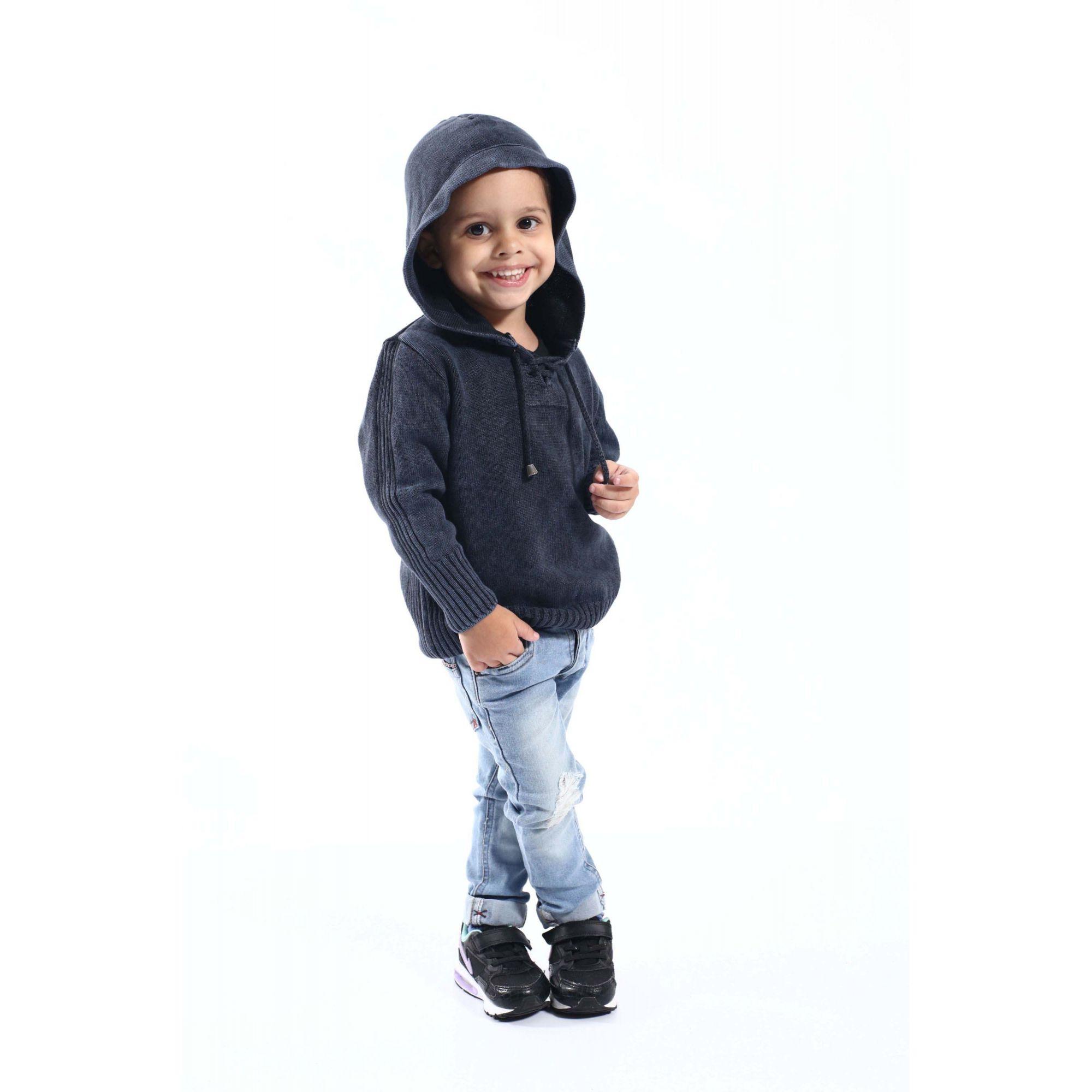 Blusa Bata Infantil Masculina  - Heitor Fashion Brazil