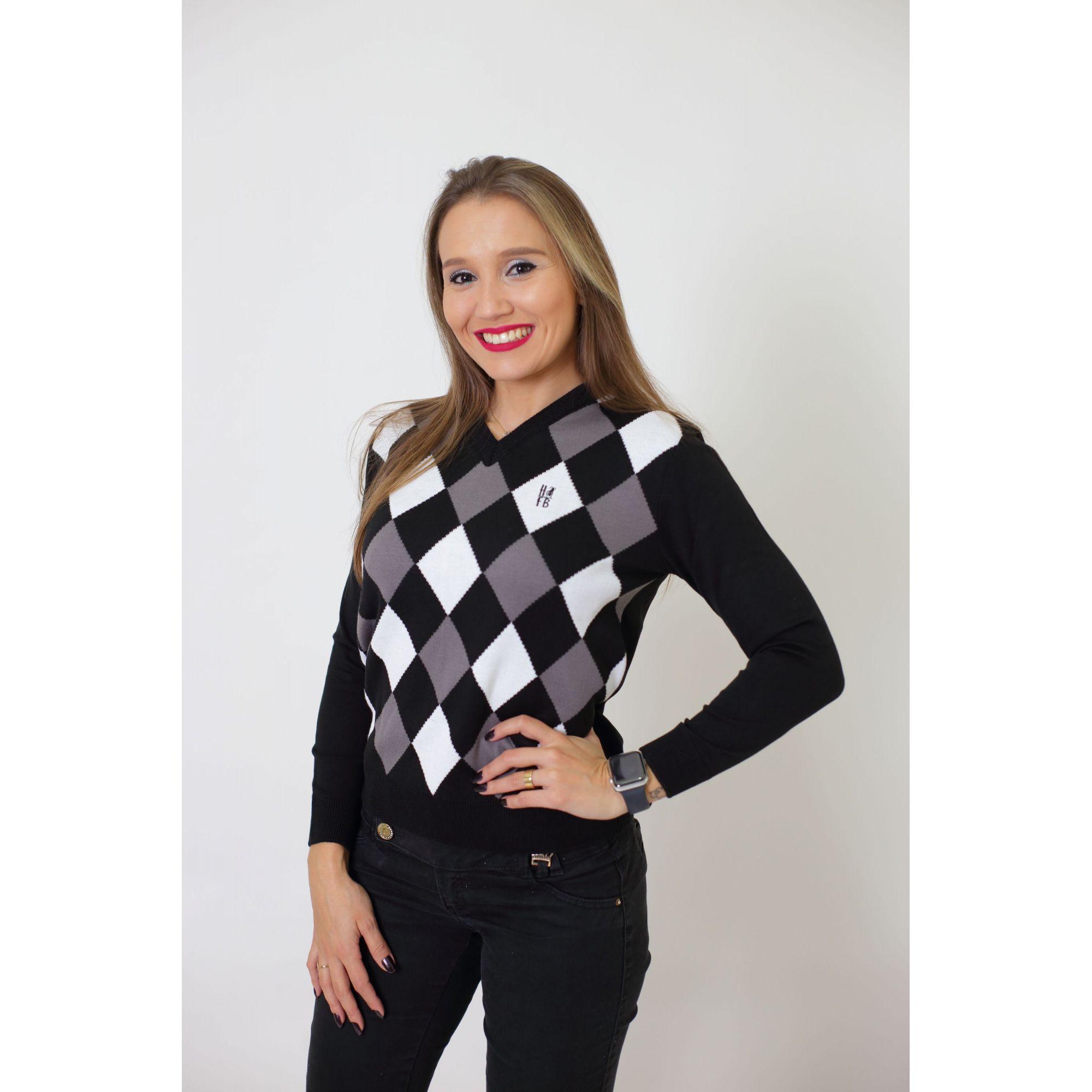 Blusa Suéter Jacquar Unissex Adulto  - Heitor Fashion Brazil