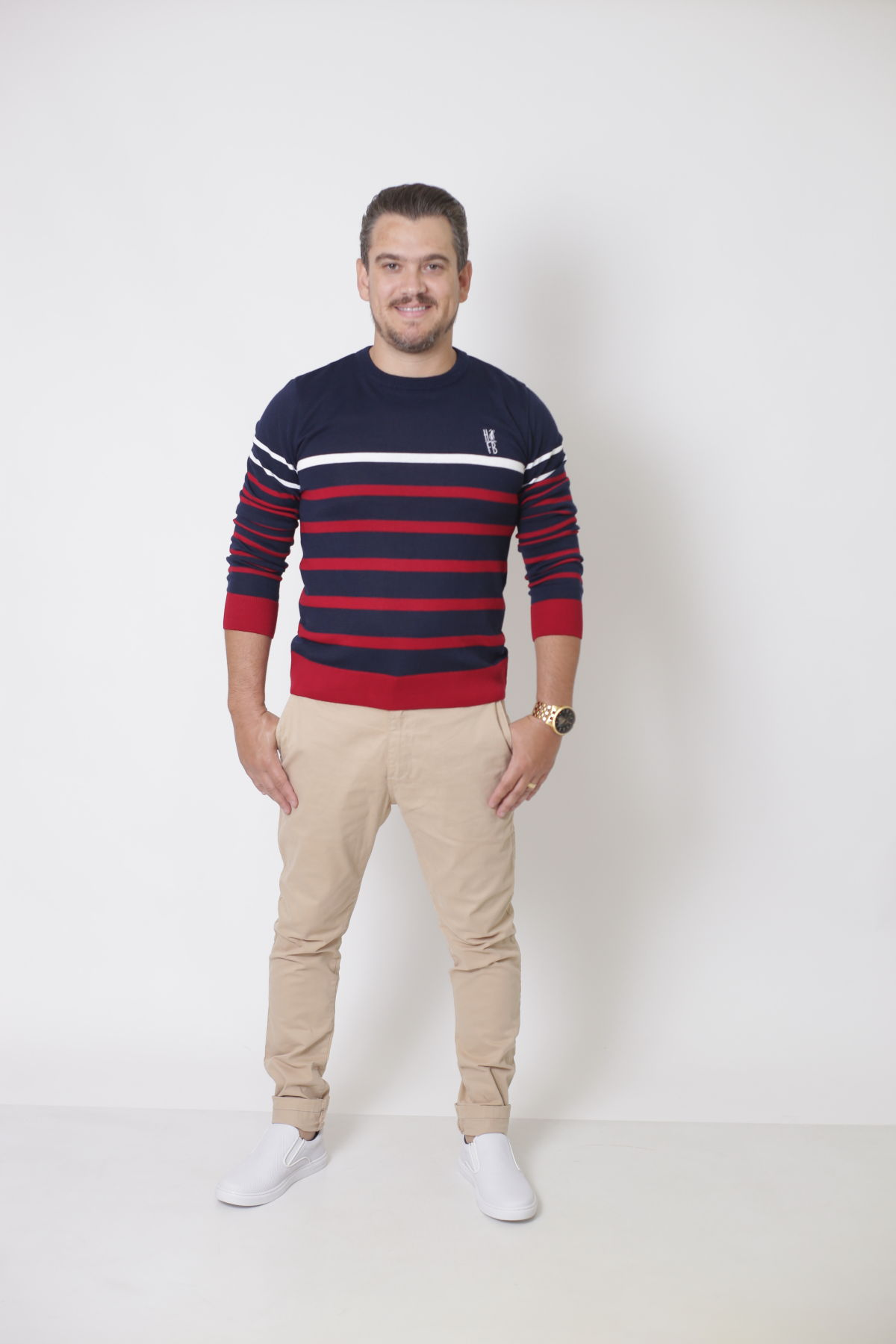 Blusa Suéter Listrado Unissex Adulto  - Heitor Fashion Brazil