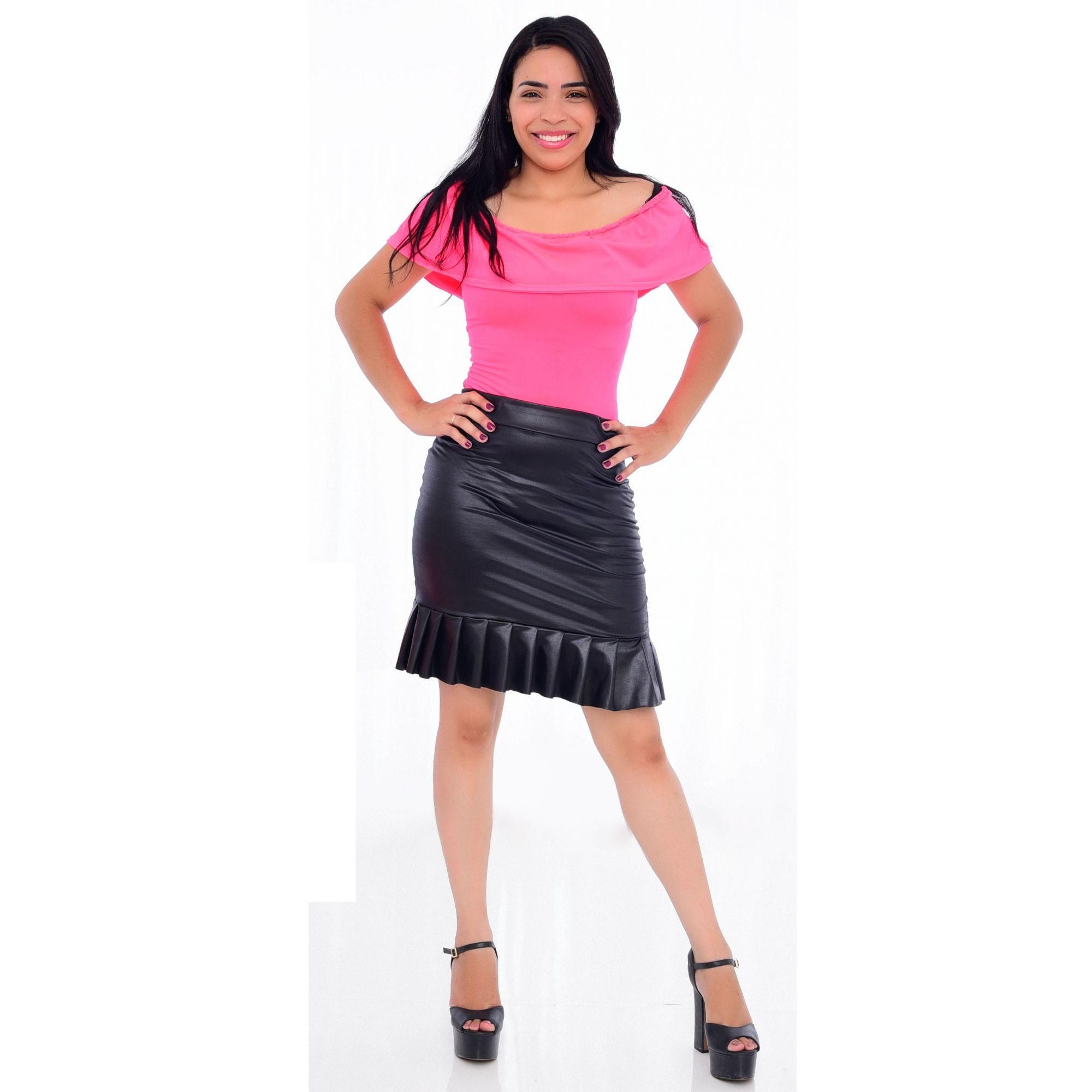 Body Feminino Adulto Neon Rosa