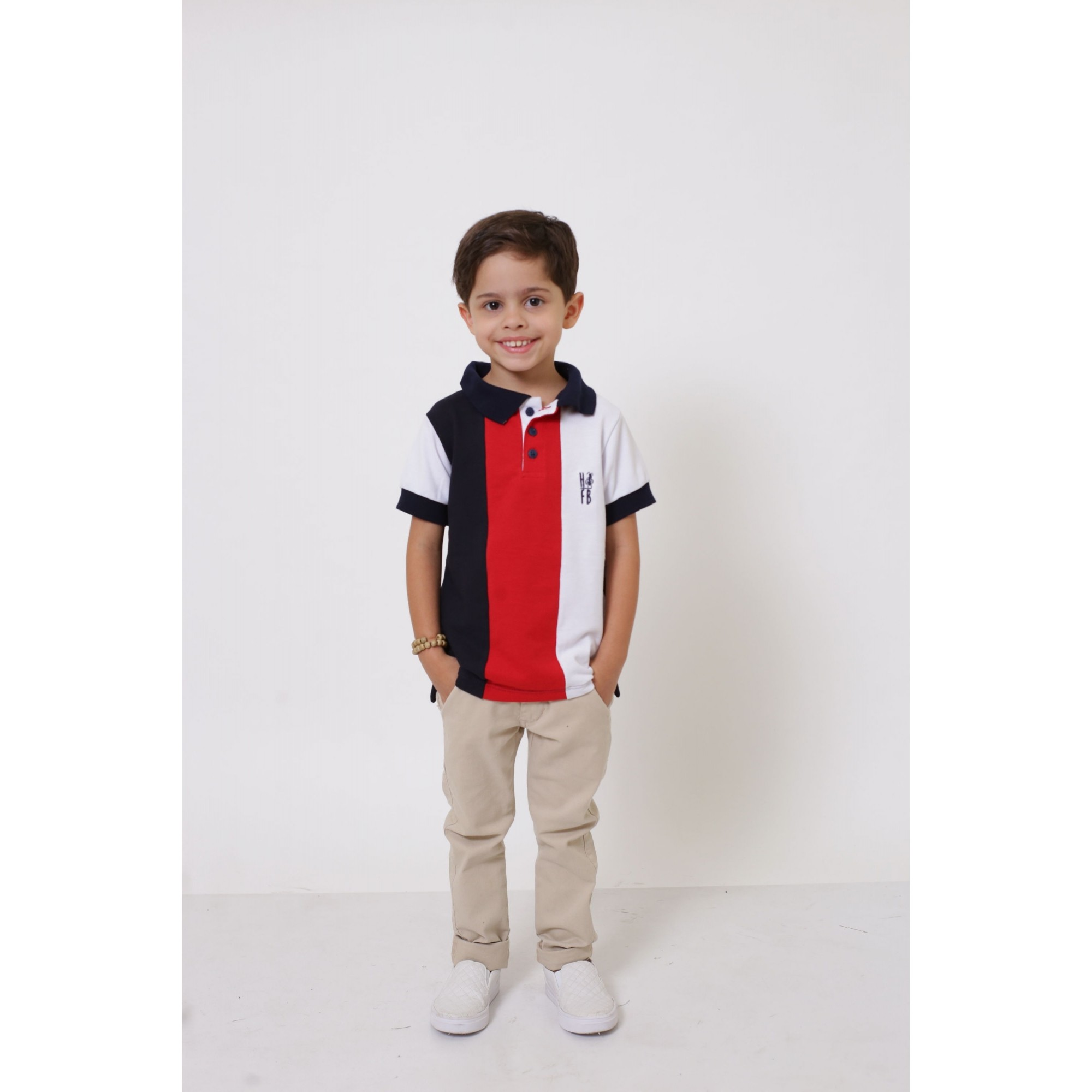 Camisa ou Body Polo Infantil Listrado King