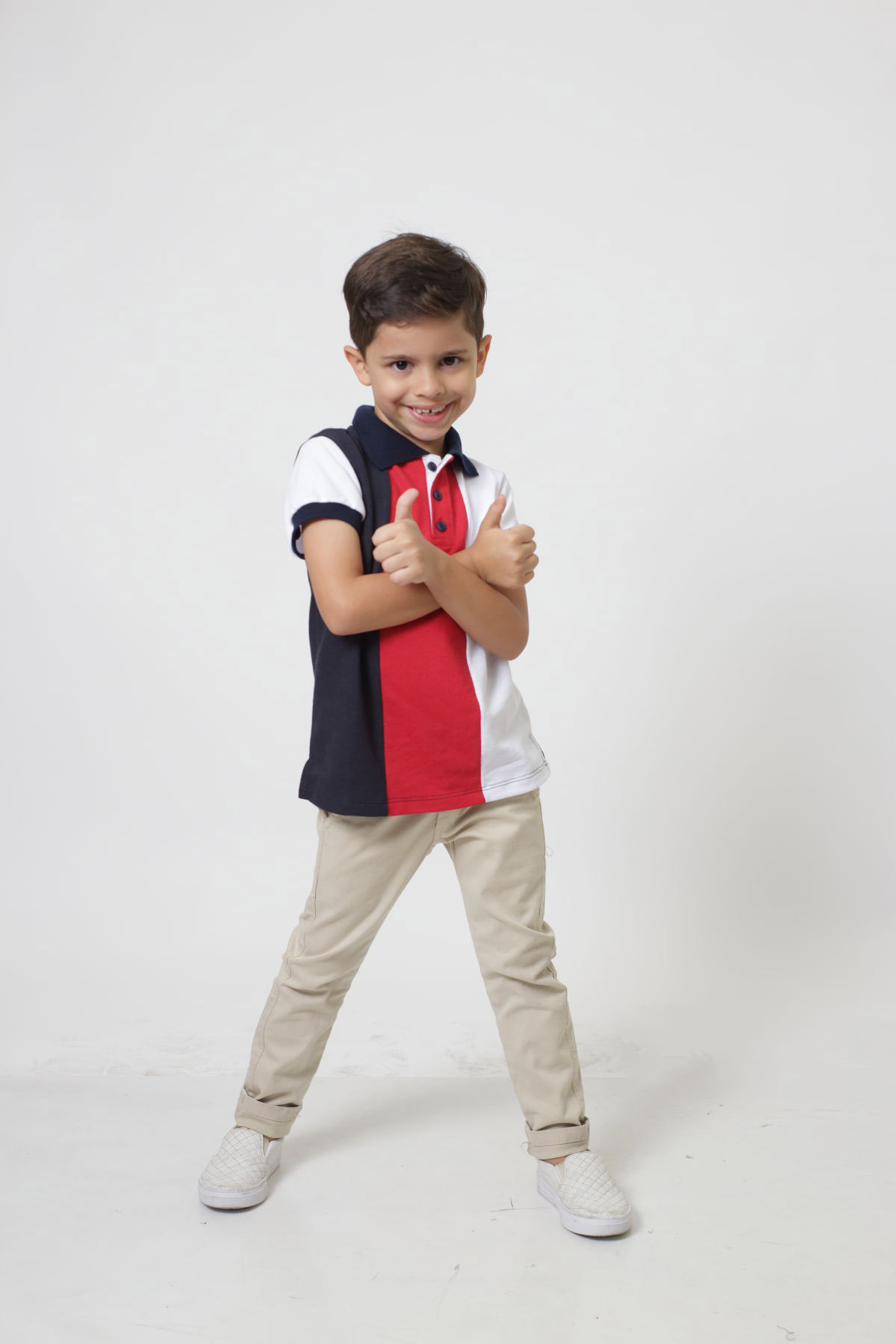 Camisa ou Body Polo Infantil Listrado King