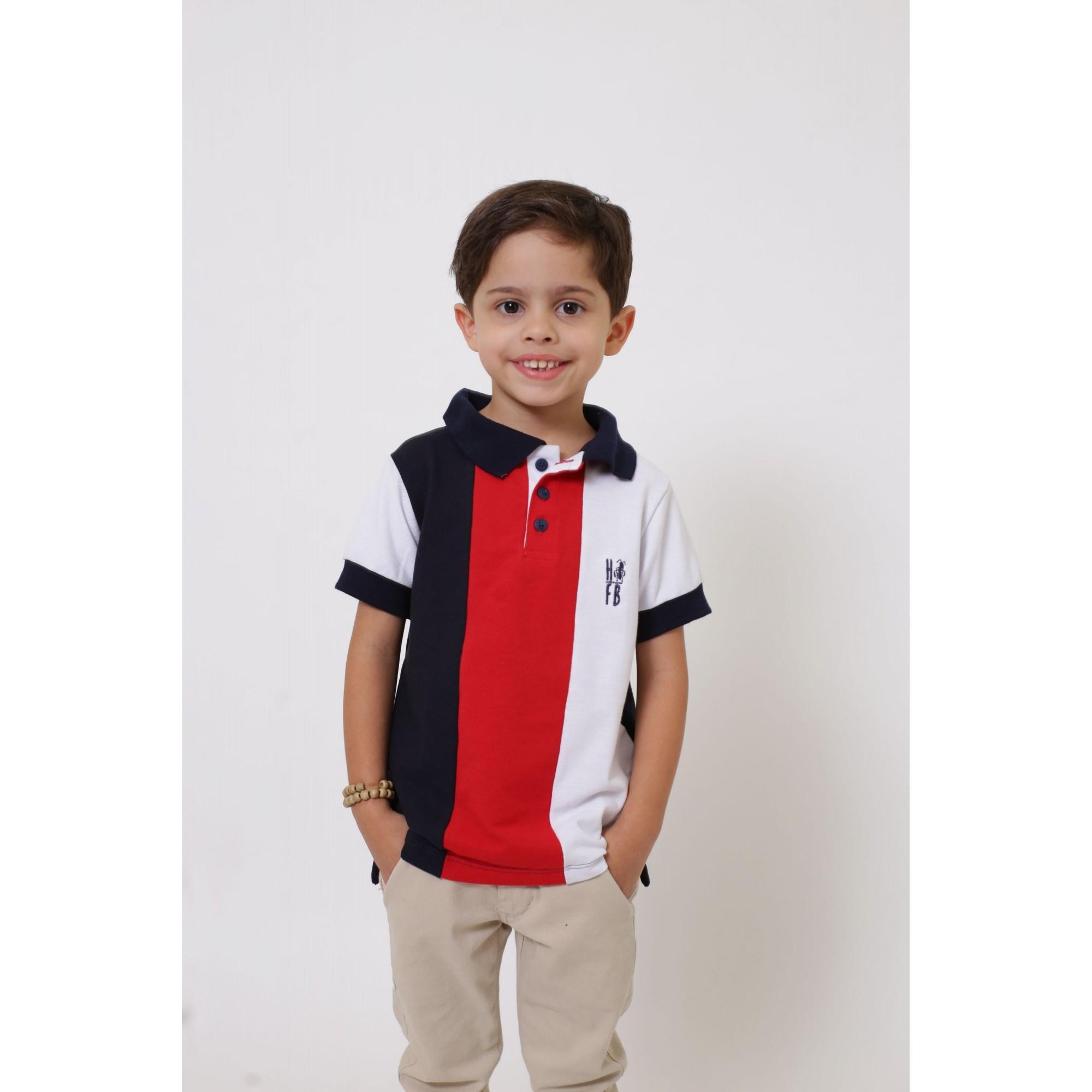 Camisa ou Body Polo Infantil Listrado King  - Heitor Fashion Brazil