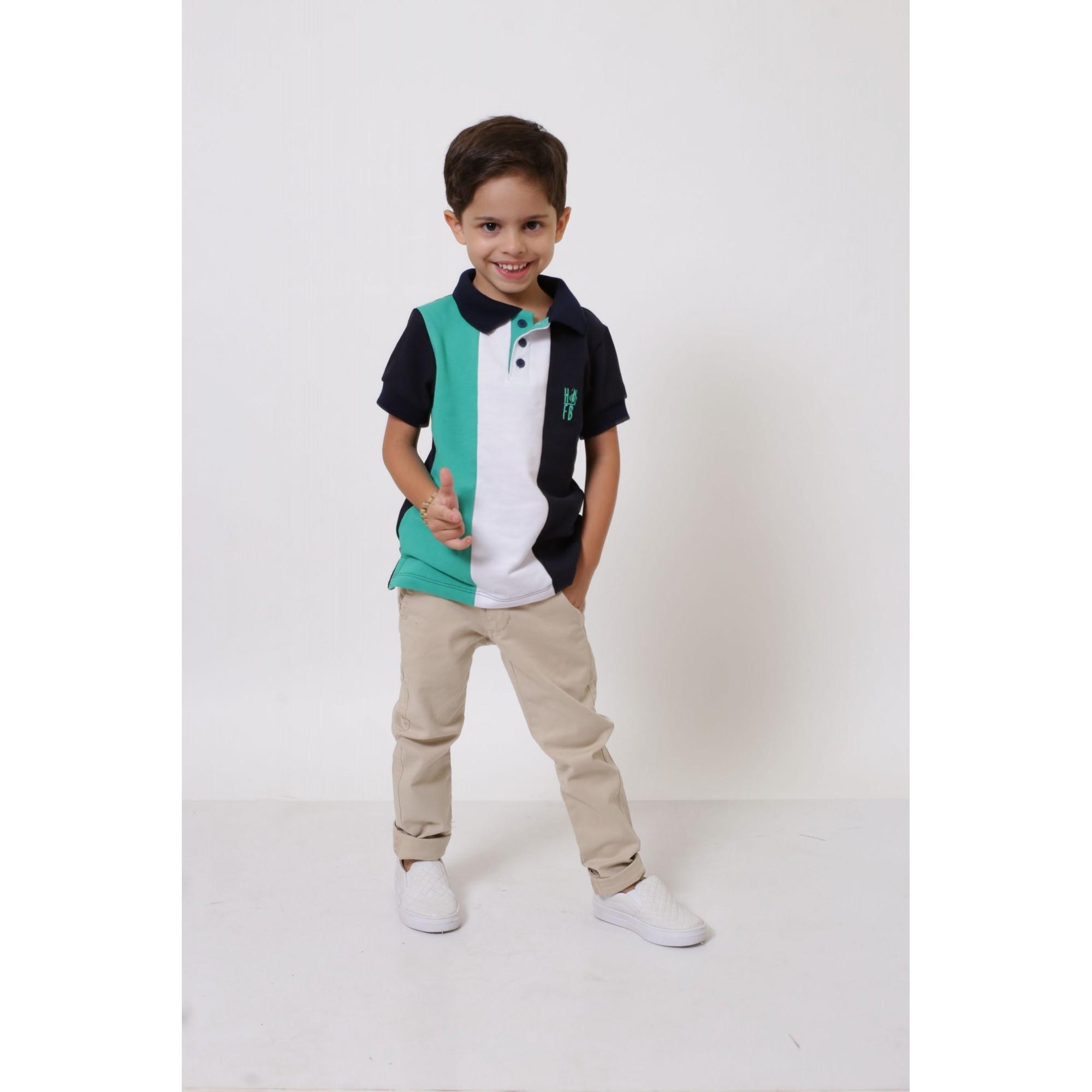 Camisa ou Body Polo Infantil Listrado Prince