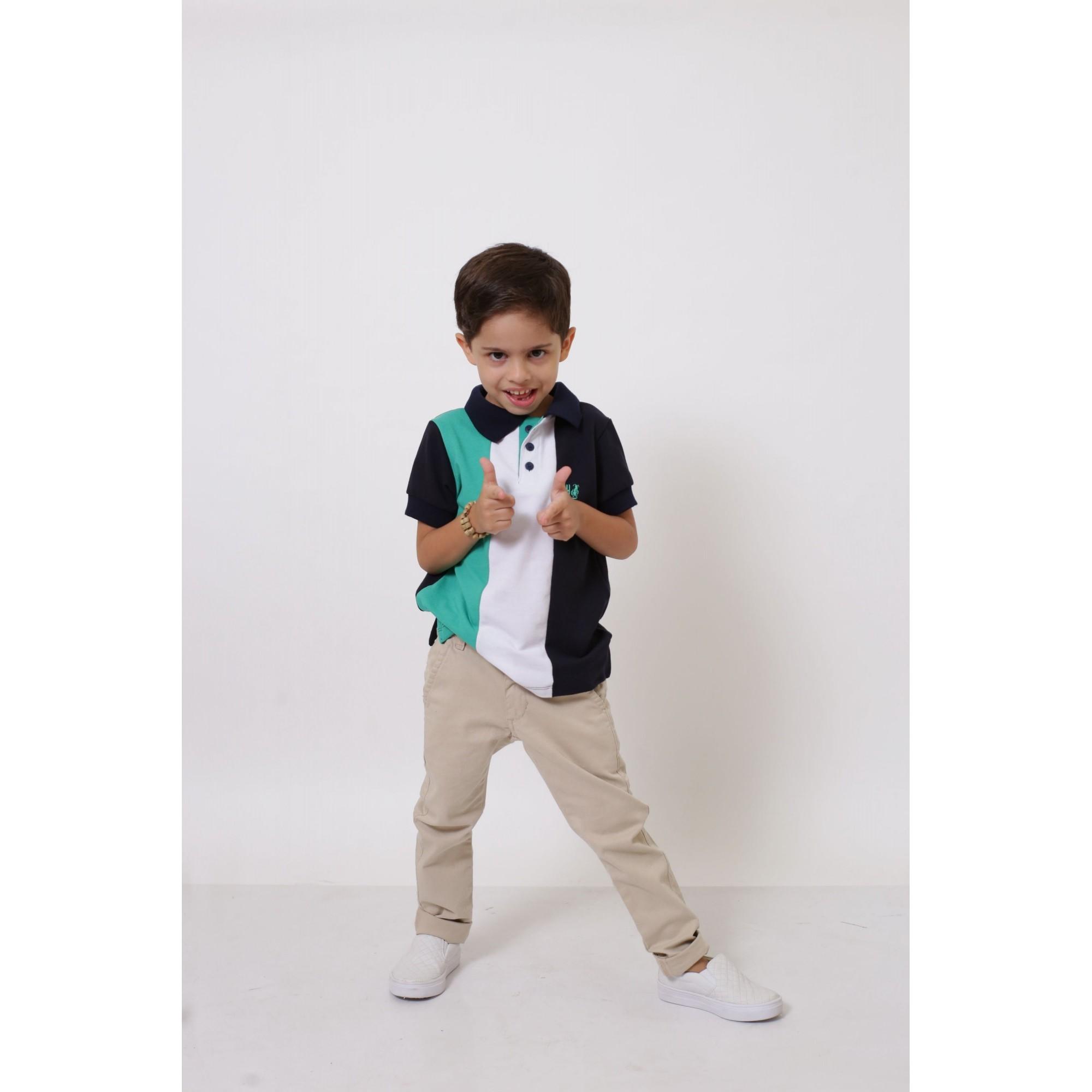 Camisa ou Body Polo Infantil Listrado Prince  - Heitor Fashion Brazil