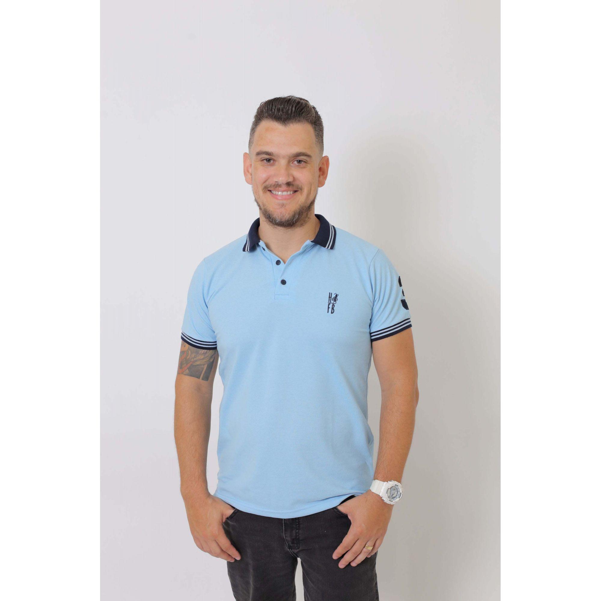 Camisa Polo Azul Nobreza