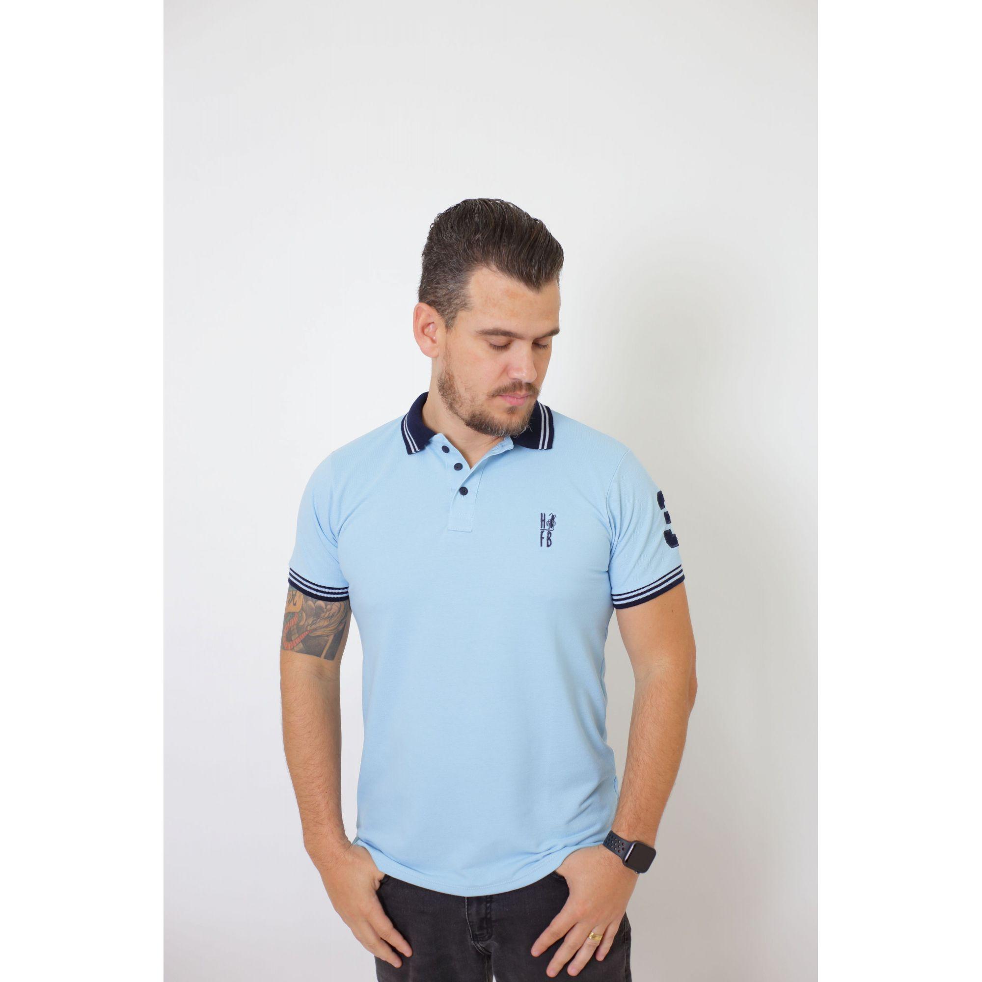 Camisa Polo Azul Nobreza  - Heitor Fashion Brazil