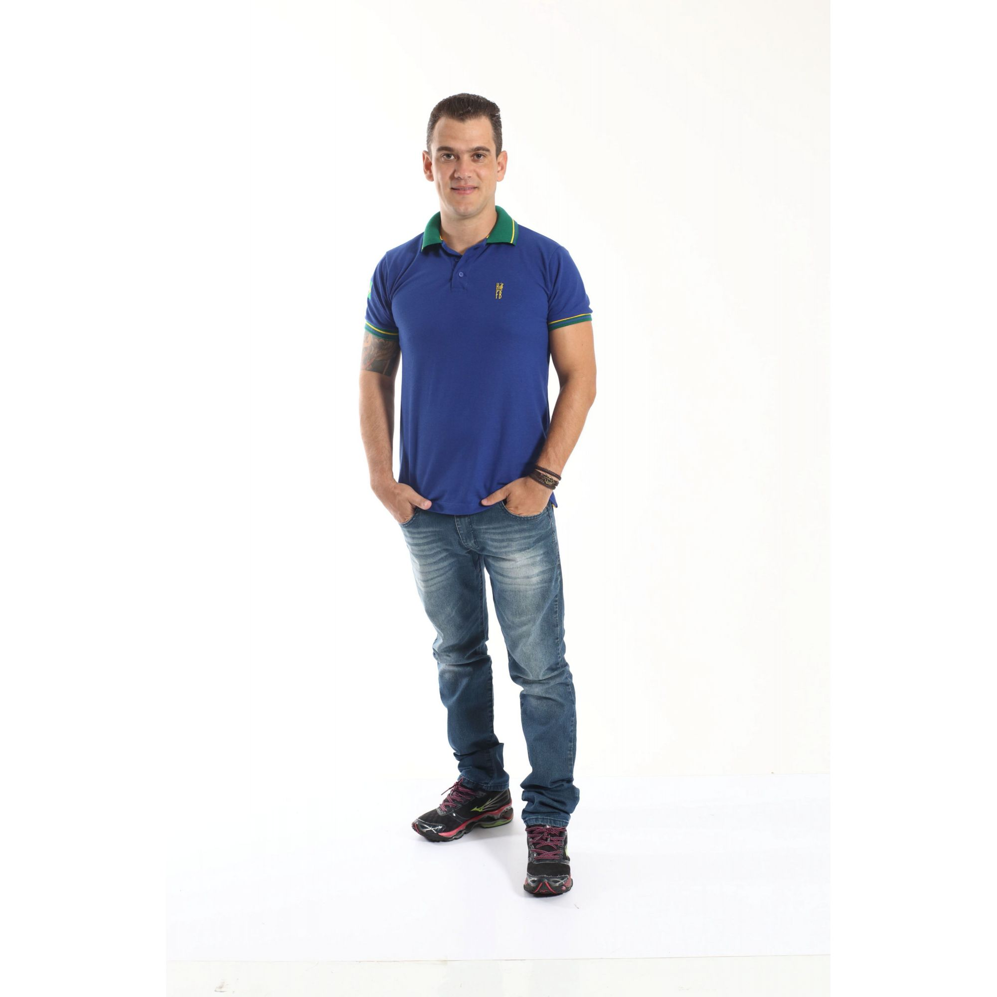 Camisa Polo Azul Royal  - Heitor Fashion Brazil